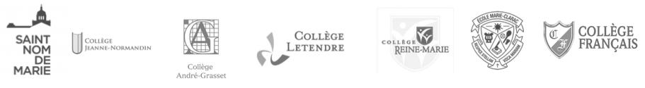 Logos d'écoles participantes